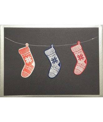 Carte Chaussons de Noël