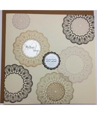Carte Vœux scintillants et floraux
