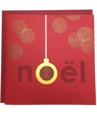 Carte Noël paré de rouge