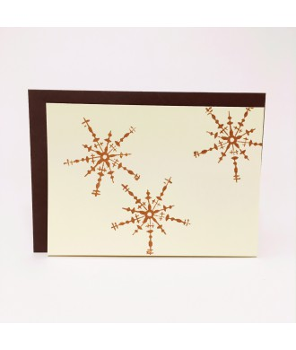 Carte impression flocons cuivre