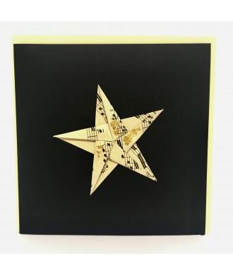 Carte étoile origami