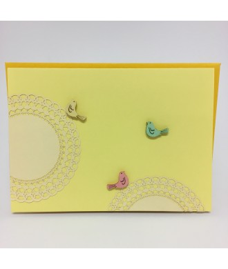 Carte jaune oiseaux
