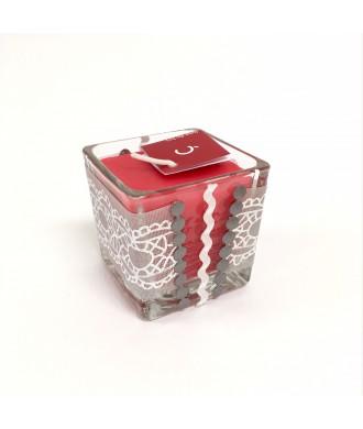 Cube en verre fraise des bois