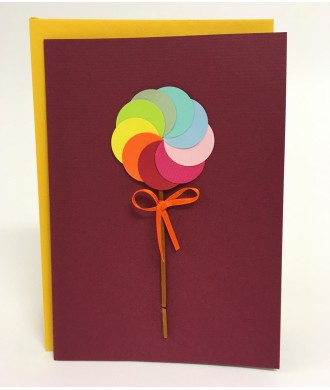 Carte sucette multicolore