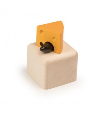 Boîte à musique souris et fromage