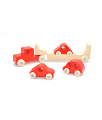 Auto-transporteur rouge