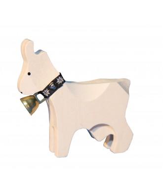 Chèvre grande blanche avec cloche