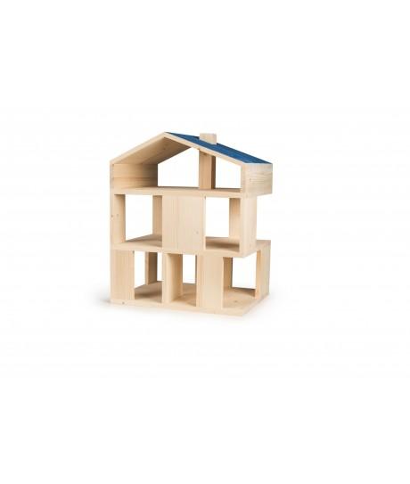 Maison de poupée toit bleu