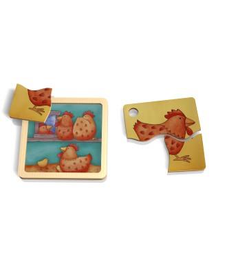 Mini puzzle poule