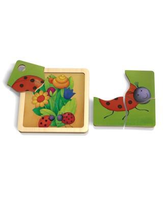Mini puzzle coccinnelle