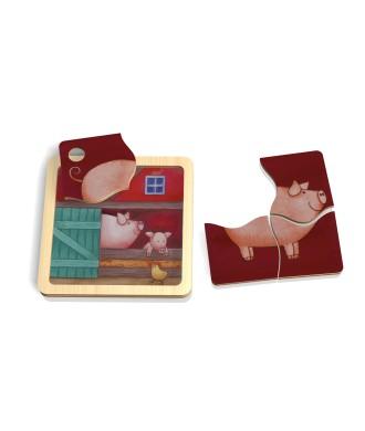 Mini puzzle cochon
