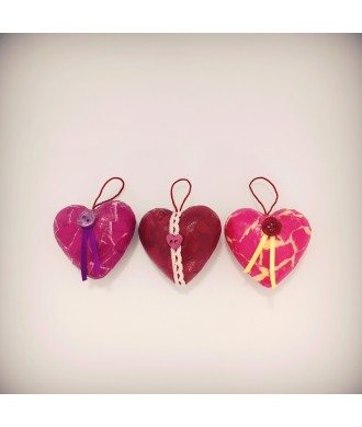 Petits cœurs déco (3pcs)