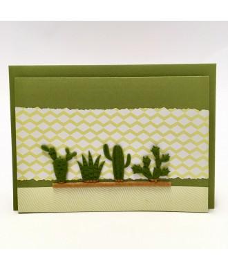 Carte cactus vert