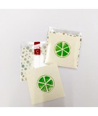 Mini-carte citron vert avec enveloppe