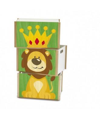 Boîte empilable lion