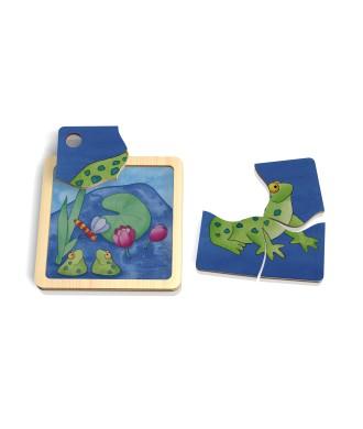 Mini puzzle grenouille