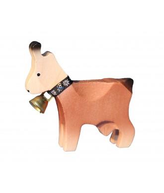 Chèvre grande brune avec cloche