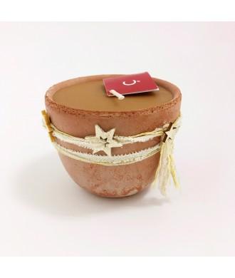Bougie petit pot terre cuite - épices