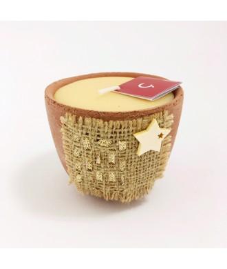 Bougie petit pot terre cuite - Caramel