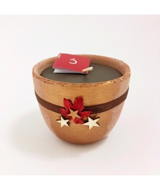 Bougie petit pot terre cuite - Cannelle