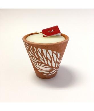 Bougie pot terre cuite - Noix de coco