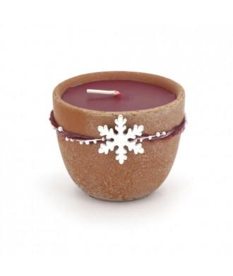 Bougie petit pot terre cuite - Rêve de Noël