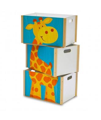 Boîte empilable girafe
