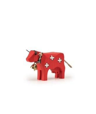 Vache rouge avec croix