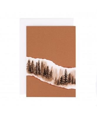 Carte Forêt cuivrée