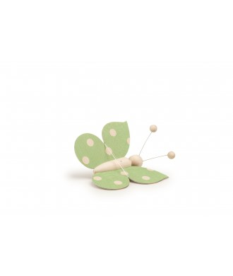 Papillon vert point avec fil
