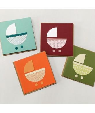 mini-cartes avec enveloppe naissance