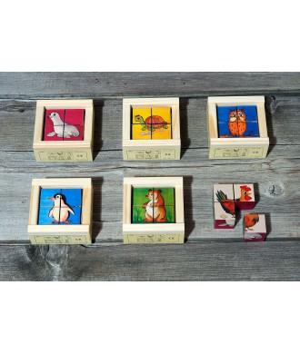 Puzzle cubes bois-4 pièces