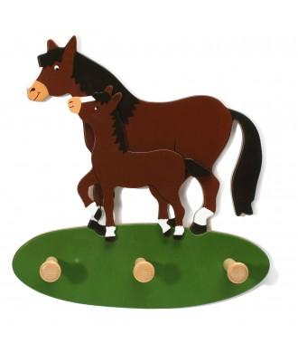 Porte-habit cheval avec poulain