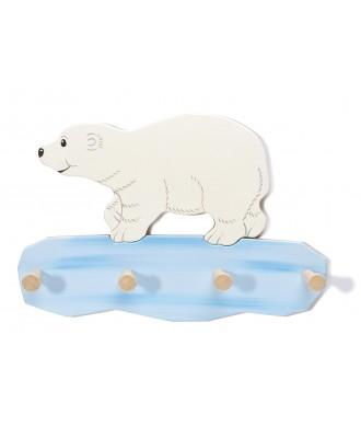 Porte-habits ours blanc