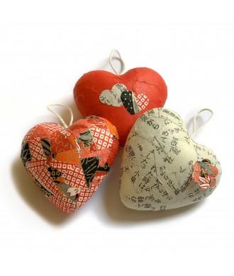 Petits cœurs déco à suspendre (3pcs)