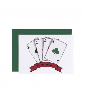 Carte vœux- Bonne chance
