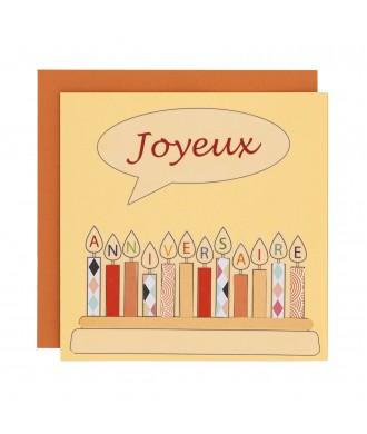 Carte vœux - Joyeux anniversaire
