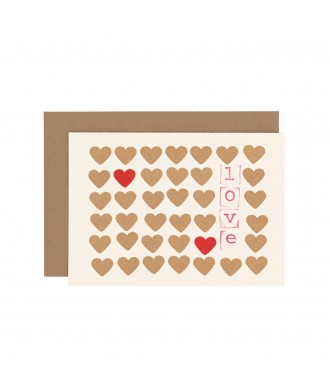 Carte stamp Love