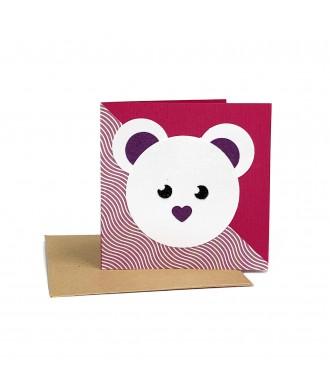 Mini-carte souris violette