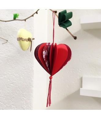 Pampille coeur papier