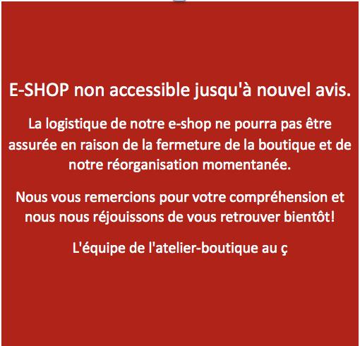 e-shop fermé