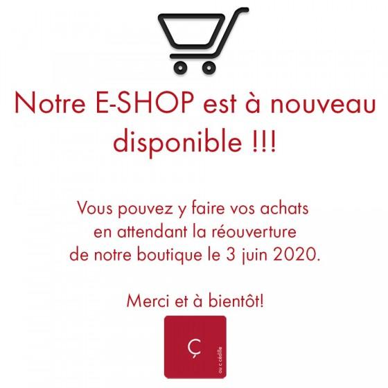 E-SHOP RÉOUVERT!